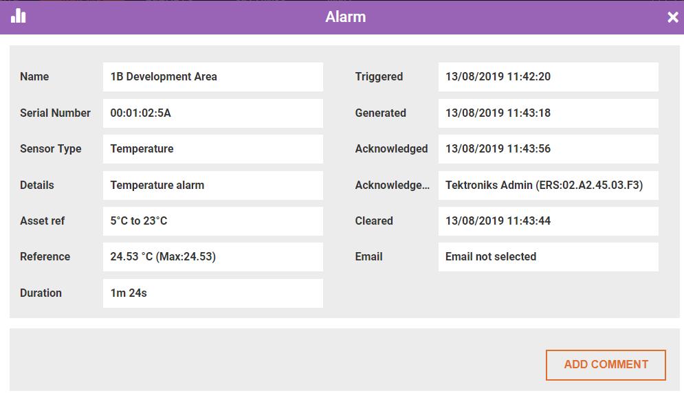 alarm details d3